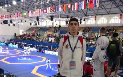 Daniel Lucena en el World Taekwondo Junior Championships 2018