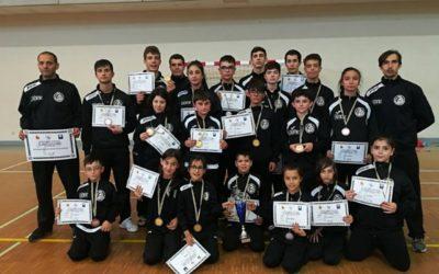 13 oros, 5 platas y 1 bronce, además del segundo puesto por equipos en el Open de Asturias