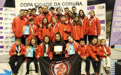 Cinco oros, seis platas, siete bronces y segundos en la general por equipos en la X Copa Cidade da Coruña