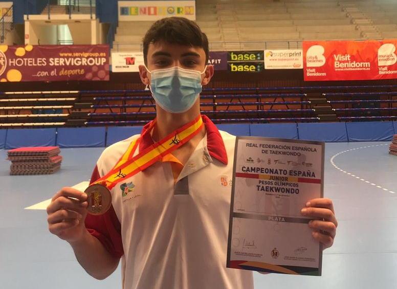 David Rodríguez Plata en el Campeonato de España Junior de Pesos Olímpicos
